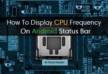 How To Display CPU Frequency In The Status Bar Using Android Apps