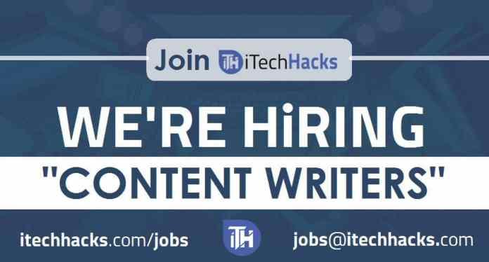 Jobs - We're Hiring ! iTech Hacks