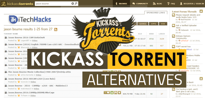 Top 8 Best Kickass Torrent Alternatives For Downloading 2017 | itechhacks  - Kickass Torrent Alternatives itechhacks 2017 2 - 8 Best KickAss Torrent Alternatives (Kat) 2018 (WORKING Torrents)