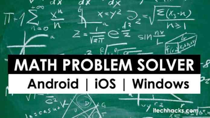 Top 5 Best Math Problem Solver Apps 2018