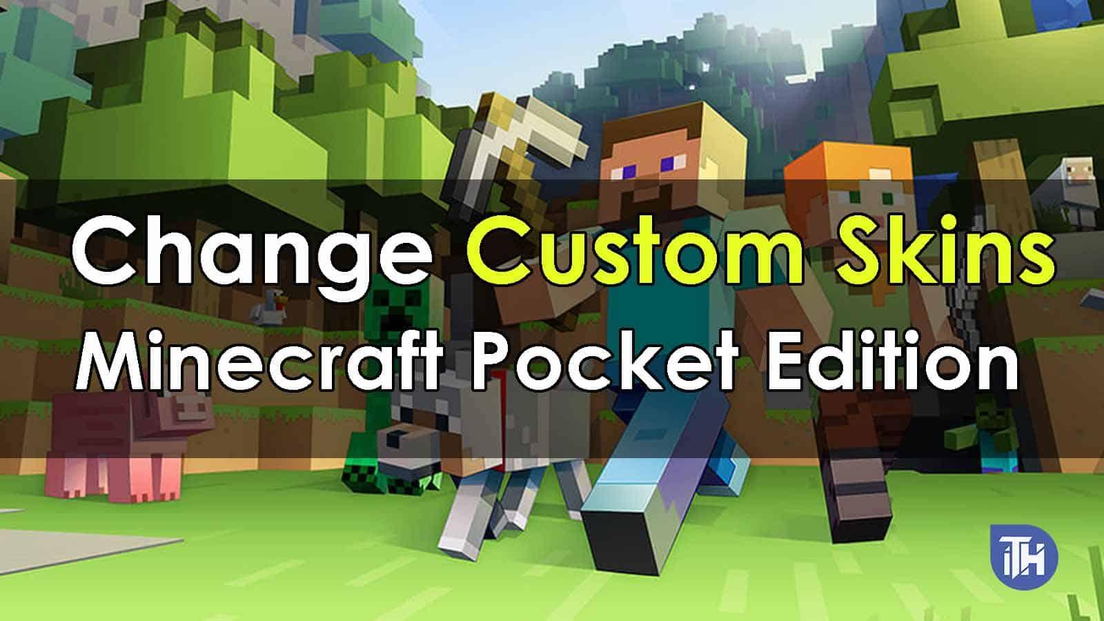 minecraft pe how to make custom skins