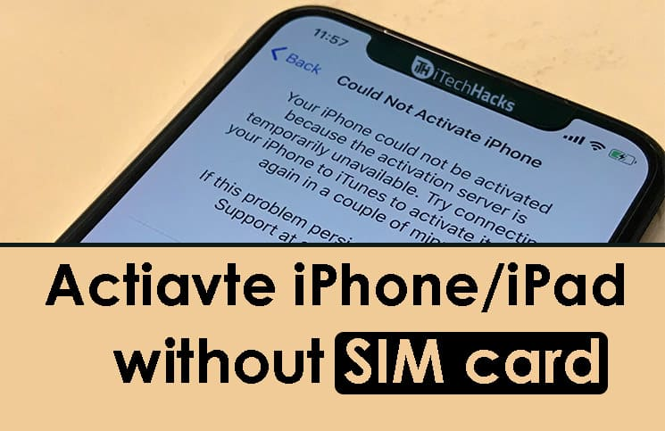 how to get into iphone without sim card