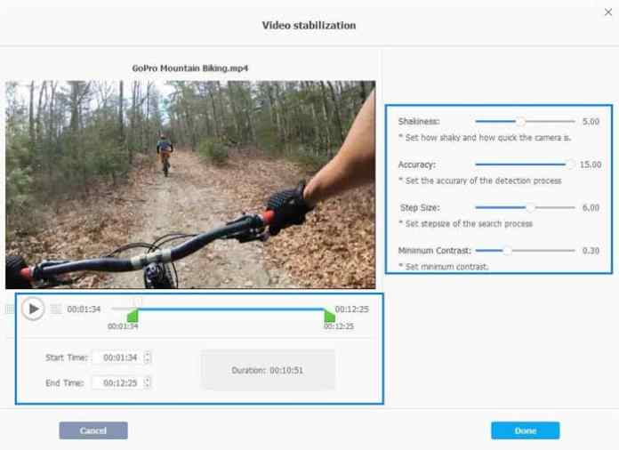 - 3 - VideoProc Review 2019- How to Fix Shaky 4K GoPro Clips