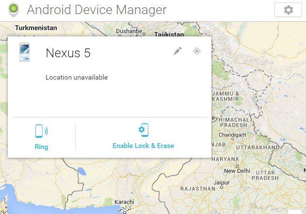 Locate Lost Nexus 5
