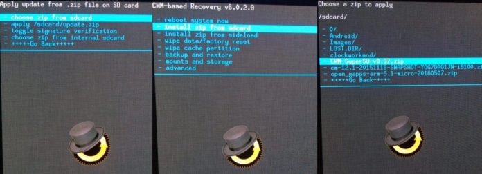 Extract Zip Files using custom recovery on Android