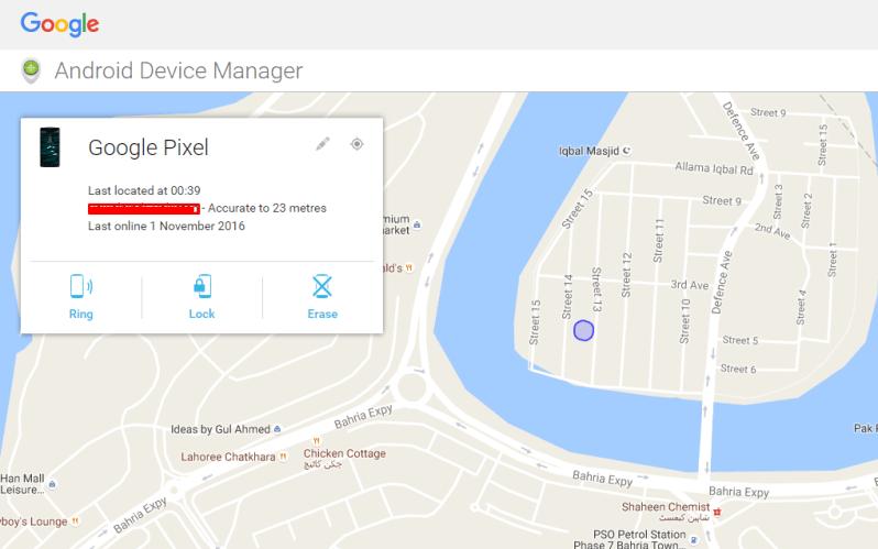 locate lost Google pixel