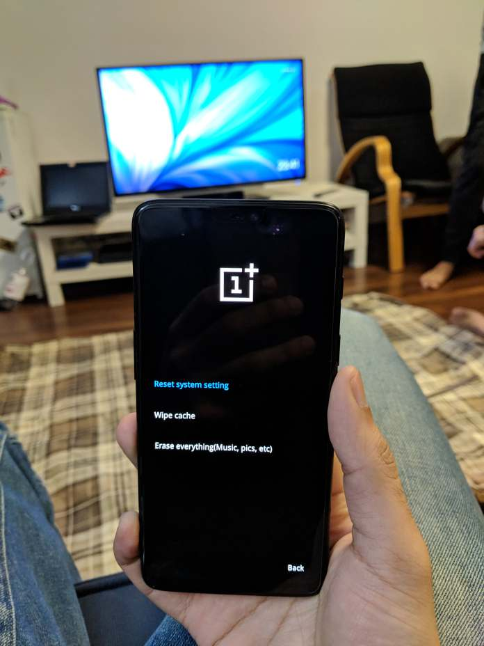 Clear OnePlus 6 Cache Partition