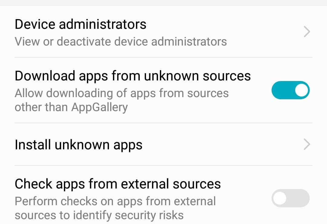 Install unknown apps on Huawei phone – Software Review RT