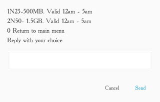 Airtel New Night plan and Data Offer - Get 500MB for N25, 1.5GB for N50 and Lots More