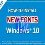 Windows 10 – Best Method to Change the Default Font