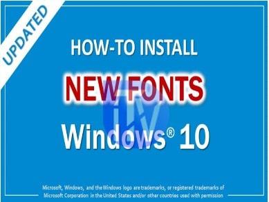 Change Windows 1-0 default font