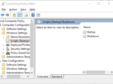 Local Group Policy Editor windows scripts