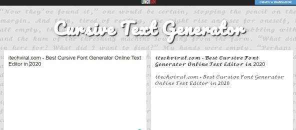 Cursive Font Generator Online