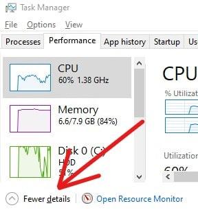 Show CPU Meter RAM