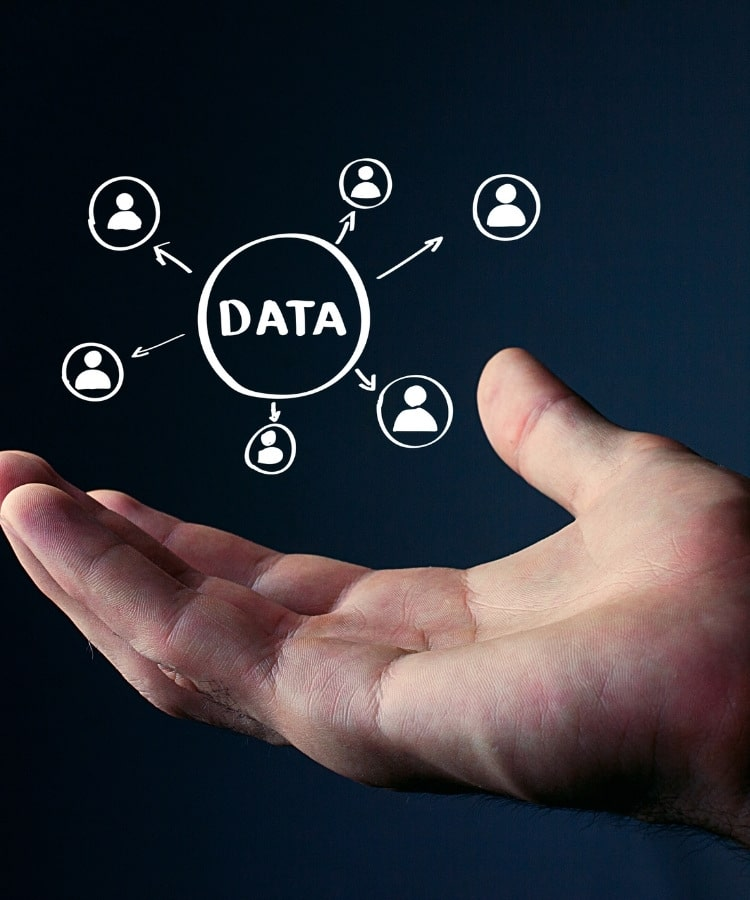 website design data driven image