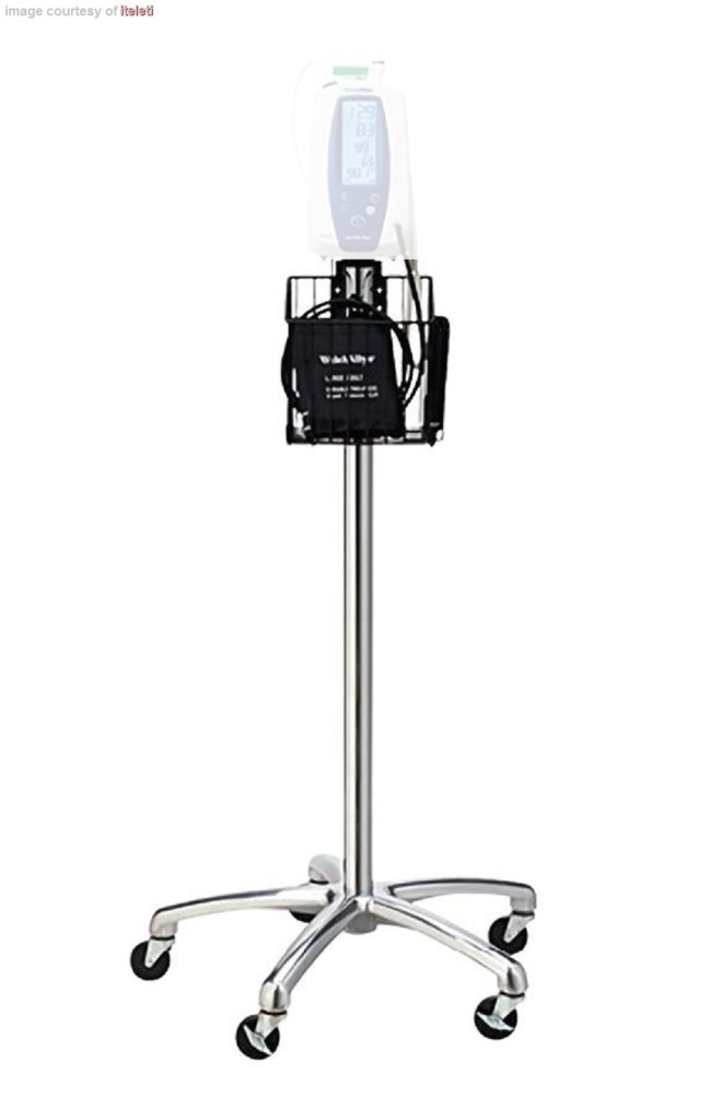 welch allyn mobile stand with basket