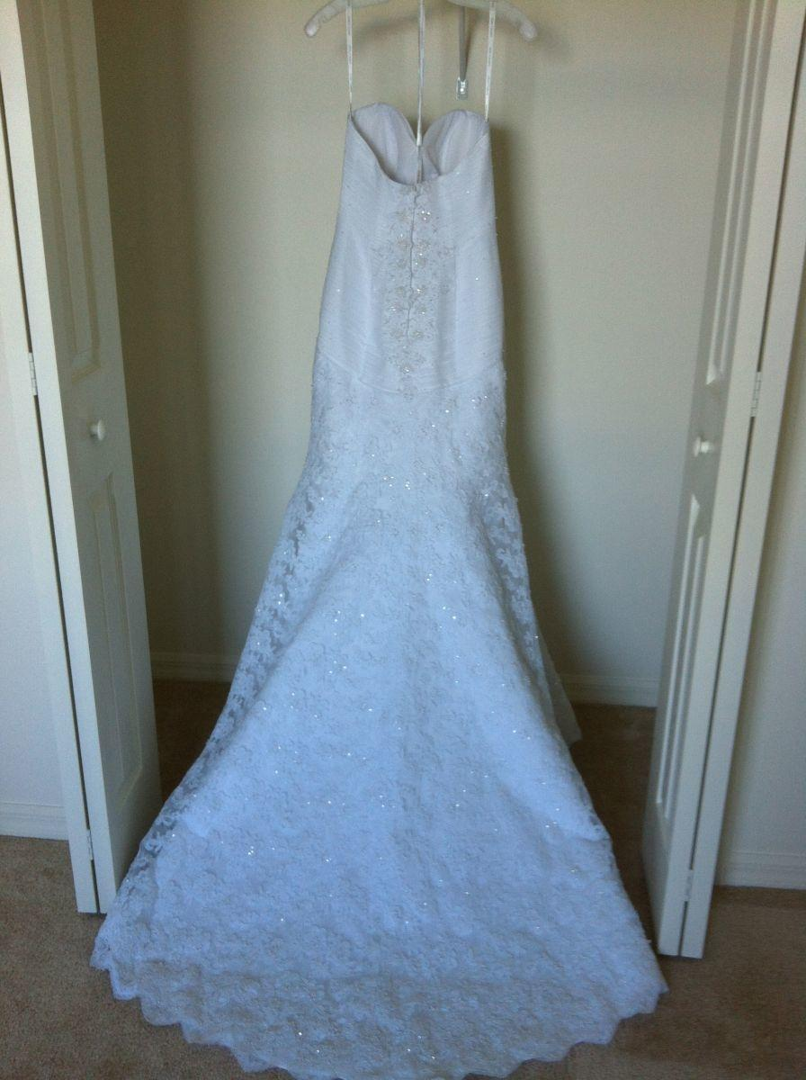 Nice Oleg Cassini Champagne Wedding Dress Elaboration - Womens ...