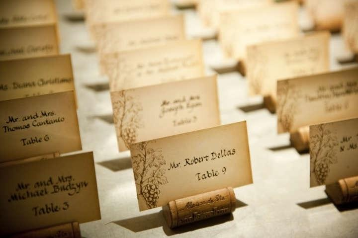 Wedding Escort Card Holders With Cards