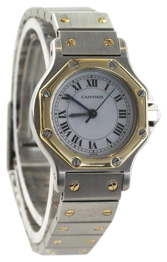 Cartier Silver Santos Octagon Watch   Tradesy Cartier Santos Octagon Watch