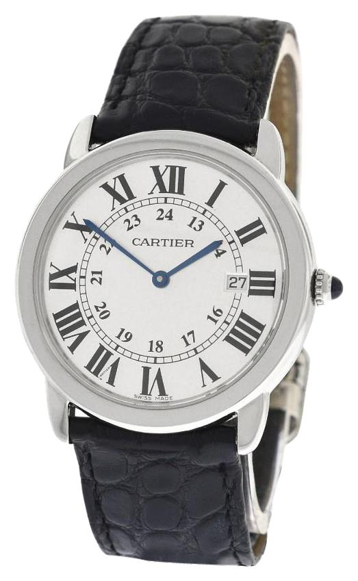 Cartier Men s Unisex 36mm Ronde Solo 2934 W6700255 Date Quartz Watch     Cartier Men s Unisex 36mm Cartier Ronde Solo 2934 W6700255 Date Quartz Watch