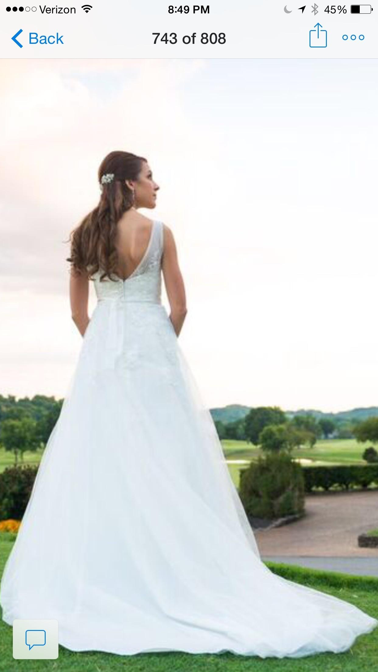David s Bridal Per Ivory  But In My Opinion It s More Of A White     David s Bridal Per Ivory  But In My Opinion It s More Of A White  Lace  Applique A line Tulle Gown with Floral Style Wg3712 Modern Wedding Dress