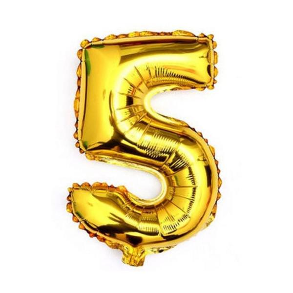 Gold 40    Giant 5 Five Mylar Number Letter Balloons Birthday Big     Gold 40    Giant 5 Five Mylar Number Letter Balloons Birthday Big Balloon  Party Table Centerpiece
