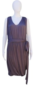 Lanvin Purple Silk Mid length Cocktail Dress Size 6  S    Tradesy Lanvin Silk Belted Midi Dress