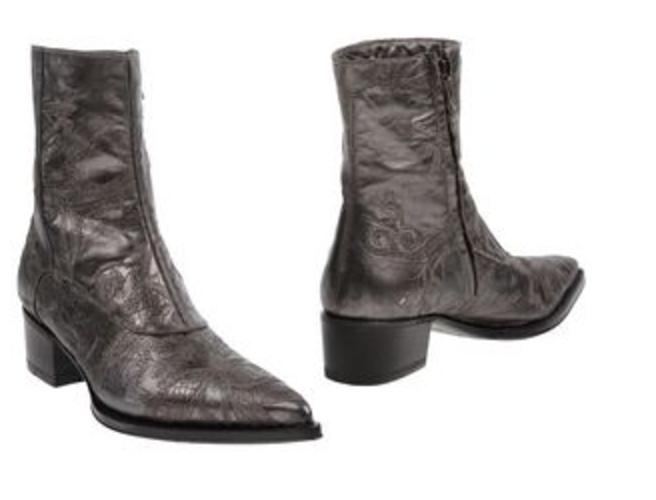 Lead Grey with A Light Metallic Sheen Urban Western Boots ...