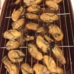 キャンプ飯 牡蠣燻製からのチーズリゾット