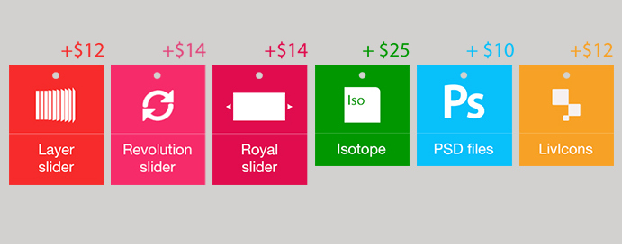 Choose between the awesome Revolution Slider, amazing Royal Slider or incredible Layer Slider.