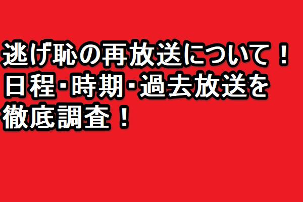 逃げ恥の再放送について!日程・時期・過去放送を徹底調査!