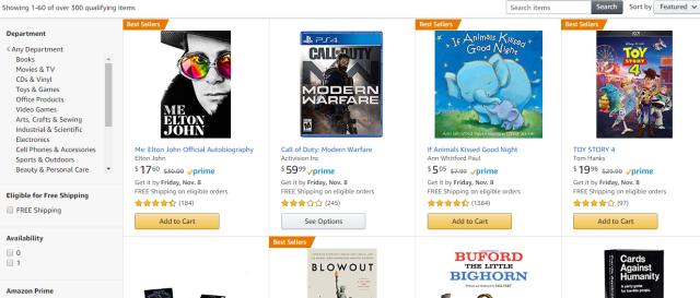 Amazon buy 3 get 1 free promo