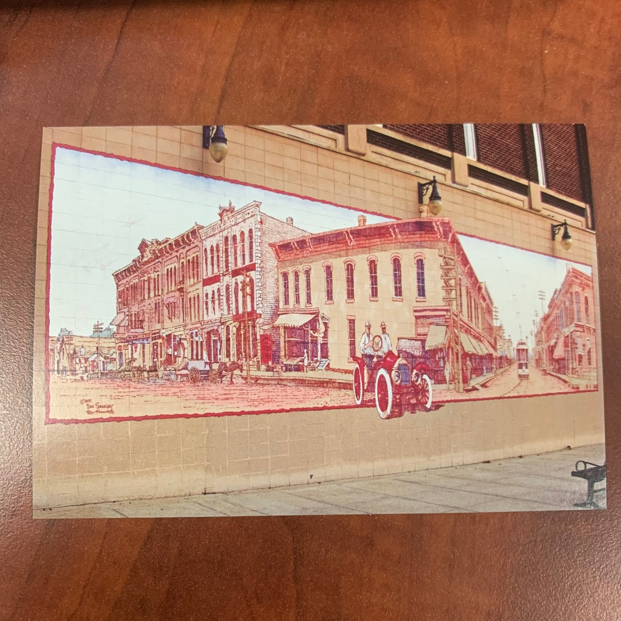 Postcard - Old Downtown Mural
