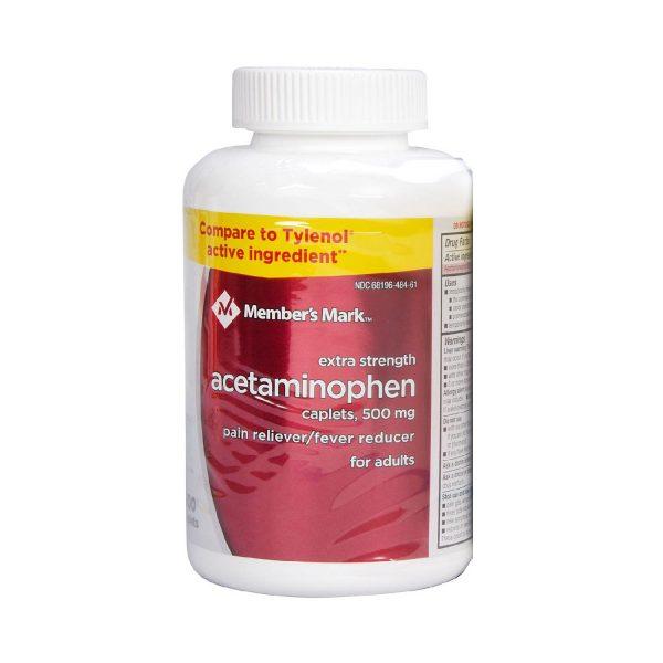 Acetaminofén Extra Fuerte (500 mg), Member's Mark. (600 Pastillas).