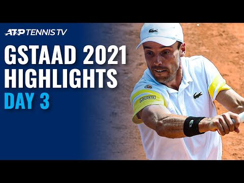 Delbonis Battles Gaston; Bautista Agut and Garin In Action | Gstaad 2021 Highlights Day 3