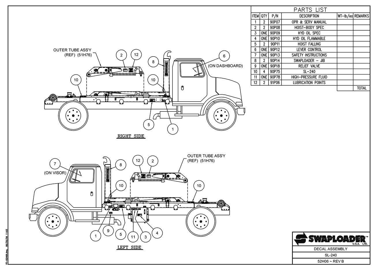 Water Truck Diagram