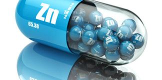 zinc Zn Dietary supplements. Vitamin capsules