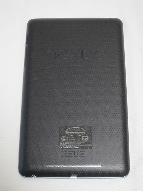 Google Nexus 7 本体背面