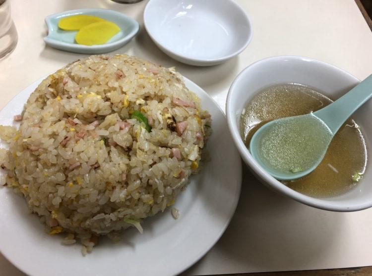 炒飯とスープ