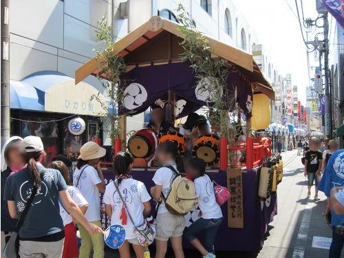 自由が丘熊野神社 お囃子車