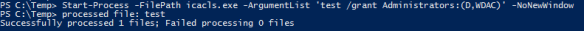 Use Legacy Executable with PowerSell - IcaCls Start-Processc
