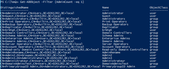 AdminSDHolder - AdminCount - PowerShell