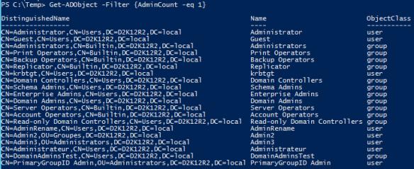 AdminSDHolder - AdminCount - PowerShell