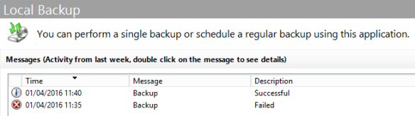 Configure Active Directory Backup - Schedule Backup 15