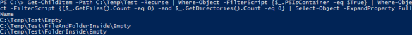 Get Empty Folders PowerShell - Exemple