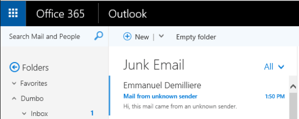 Harden Office 365 Antispam per Mailbox - Unknown Sender