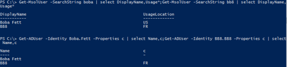 Sync UsageLocation from Active Directory - with the rule enabled