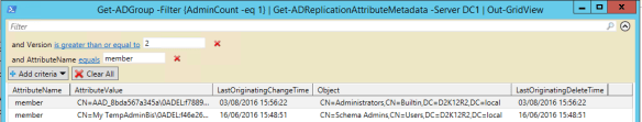 Active Directory Metadata PowerShell - PowerShell Admins Groups Membership