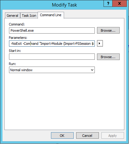 Create Custom MMC Toolbox -Exchange Online Connection Definition