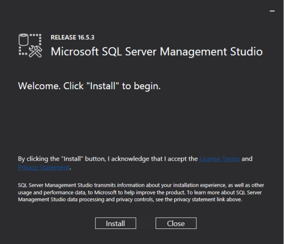 Manage LocalDB AAD Connect SQL Database - SSMS Install